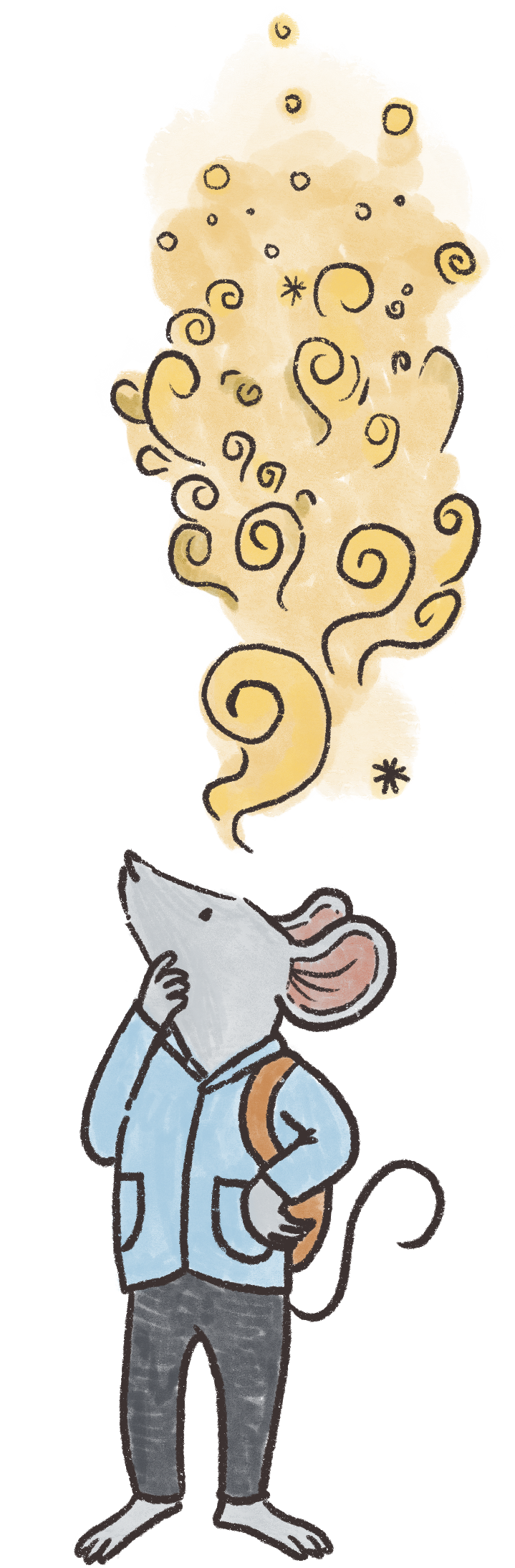 mouse wondering